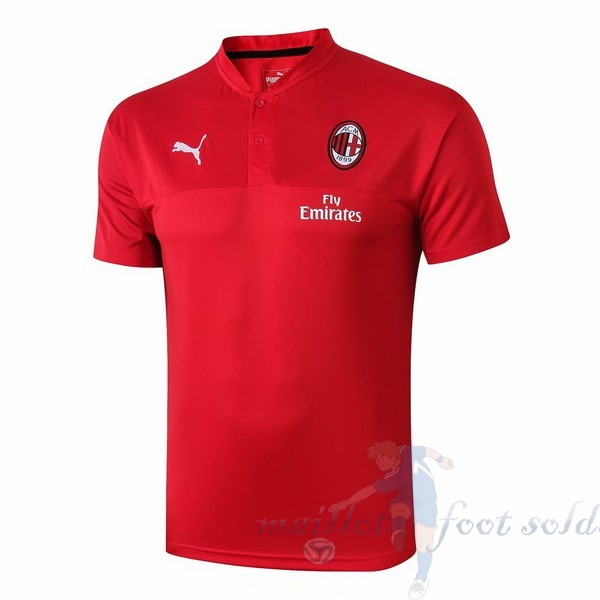 Pas Cher Maillot Foot PUMA Polo AC Milan 2019 2020 Rouge
