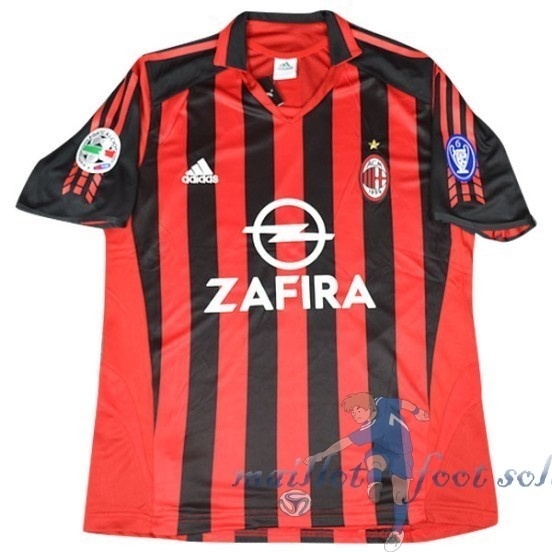 Pas Cher Maillot Foot Adidas DomiChili Maillot AC Milan Vintage 2005 2006 Rouge
