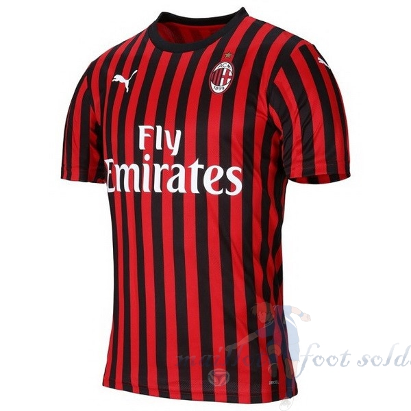 Pas Cher Maillot Foot PUMA Domicile Maillot AC Milan 2019 2020 Rouge