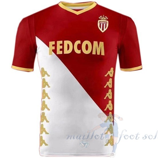 Pas Cher Maillot Foot Kappa DomiChili Maillot As Monaco 2019 2020 Rouge Blanc