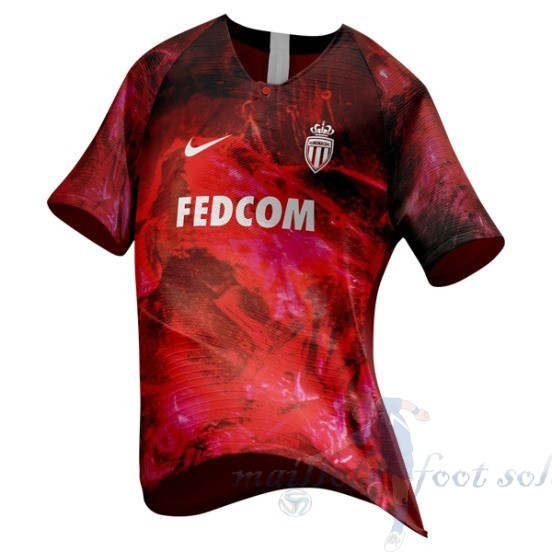 Pas Cher Maillot Foot Nike Ea Sport Maillot As Monaco 2018 2019 Rouge