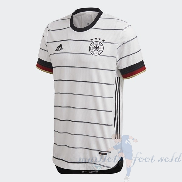 Pas Cher Maillot Foot adidas Domicile Maillot Allemagne 2020 Blanc