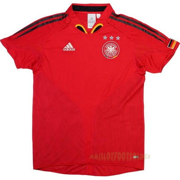 Pas Cher Maillot Foot adidas Exterieur Maillot Allemagne Retro 2004 2006 Rouge