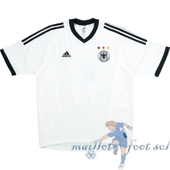 Pas Cher Maillot Foot Adidas DomiChili Maillot Allemagne Vintage 2002 Blanc