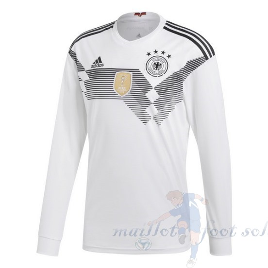 Pas Cher Maillot Foot Adidas Domicile Manches Longues Allemagne 2018 Blanc