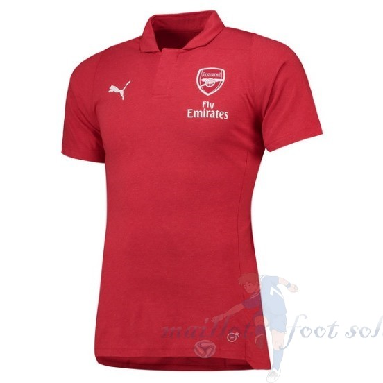 Pas Cher Maillot Foot Puma Polo Arsenal 2018 2019 Rouge