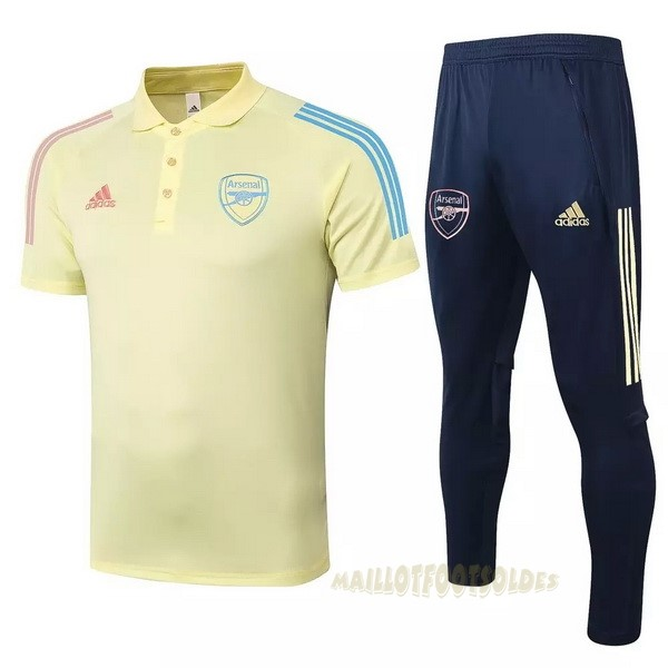 Pas Cher Maillot Foot adidas Ensemble Complet Polo Arsenal 2020 2021 Jaune