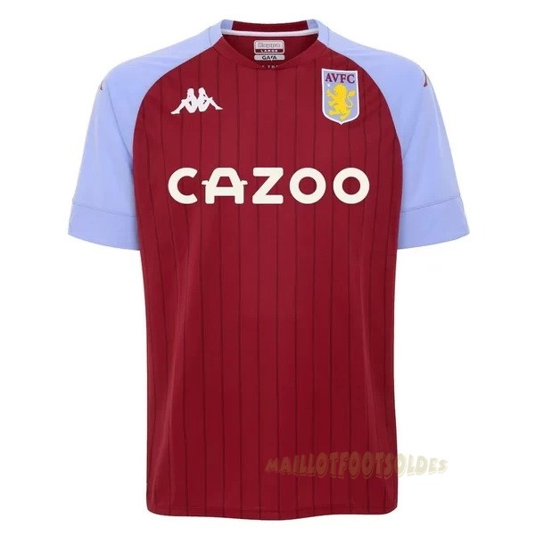 Pas Cher Maillot Foot Kappa Domicile Maillot Aston Villa 2020 2021 Rouge