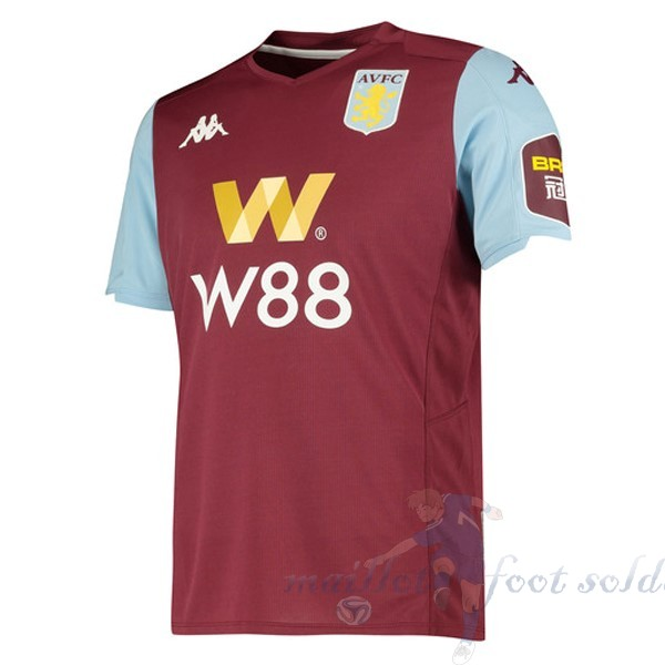 Pas Cher Maillot Foot Kappa Domicile Maillot Aston Villa 2019 2020 Rouge