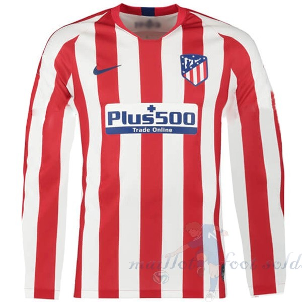 Pas Cher Maillot Foot Nike Domicile Manches Longues Atlético Madrid 2019 2020 Rouge