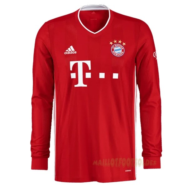 Pas Cher Maillot Foot adidas Domicile Manches Longues Bayern Munich 2020 2021 Rouge