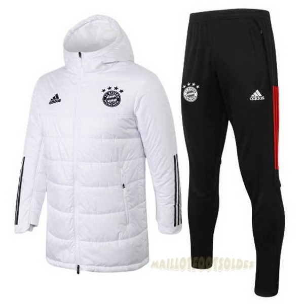 Pas Cher Maillot Foot adidas Chaqueta Abajo Ensemble Complet Bayern Munich 2020 2021 Blanc