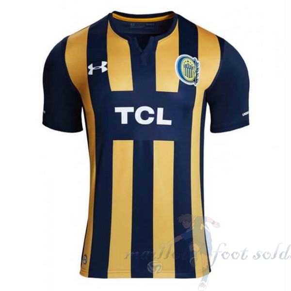 Pas Cher Maillot Foot Under Armour Domicile Maillot CA Roserio Central 2019 2020 Bleu Jaune