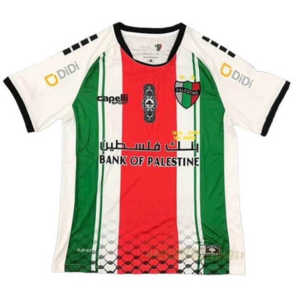 Pas Cher Maillot Foot capelli Exterieur Maillot CD Palestino 2020 2021 Blanc