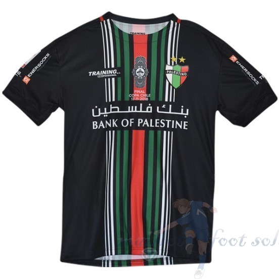 Pas Cher Maillot Foot Enersocks Coupe Finale Cd Palestino 2018 2019 Noir