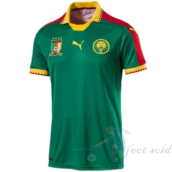 Pas Cher Maillot Foot PUMA Domicile Maillot Camerún 2019 Vert