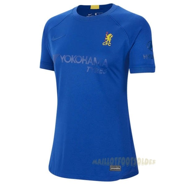 Pas Cher Maillot Foot Nike Maillot Femme Chelsea 50th Bleu