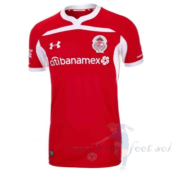 Pas Cher Maillot Foot Under Armour Domicile Maillot Deportivo Toluca 2018 2019 Rouge