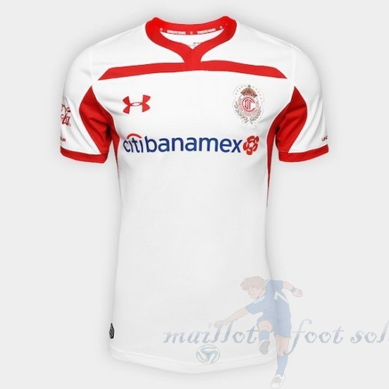 Pas Cher Maillot Foot Under Armour Exterieur Maillot Deportivo Toluca 2018 2019 Blanc