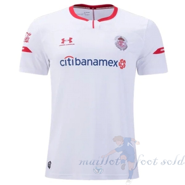 Pas Cher Maillot Foot Under Armour Exterieur Maillot Deportivo Toluca 2019 2020 Blanc