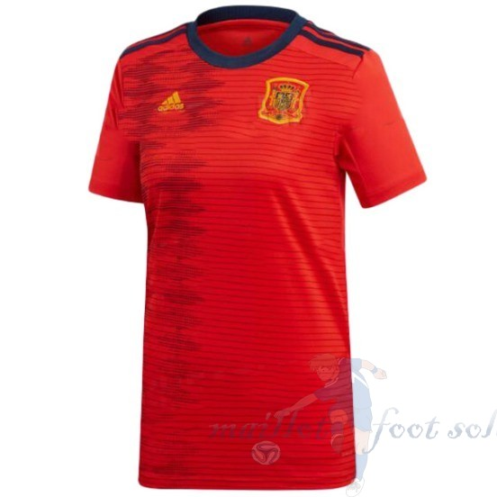 Pas Cher Maillot Foot Adidas DomiChili Maillot Femme Espagne 2019 Rouge