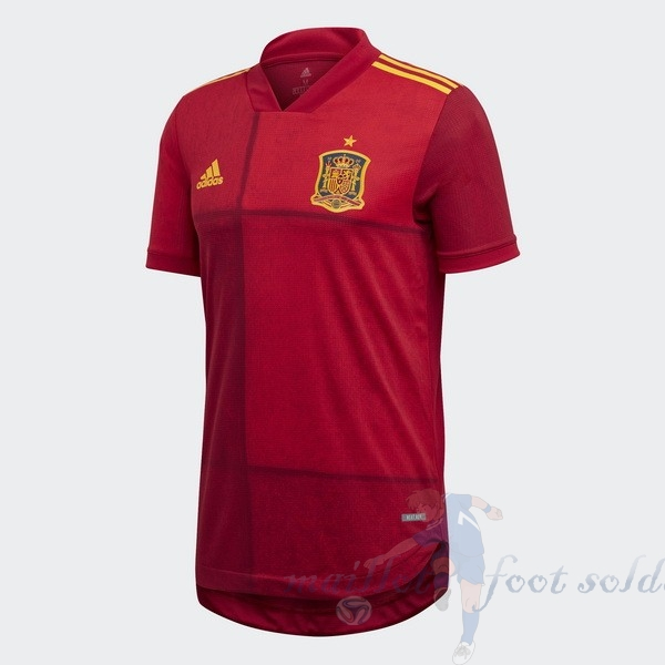 Pas Cher Maillot Foot adidas Domicile Maillot Espagne 2020 Rouge