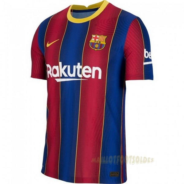 Pas Cher Maillot Foot Nike Domicile Maillot Barcelone 2020 2021 Bleu Rouge