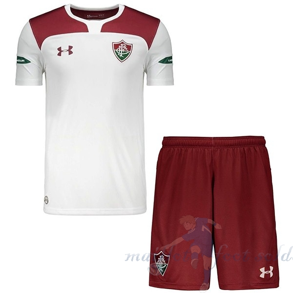 Pas Cher Maillot Foot Under Armour Exterieur Ensemble Enfant Fluminense 2019 2020 Rouge Blanc