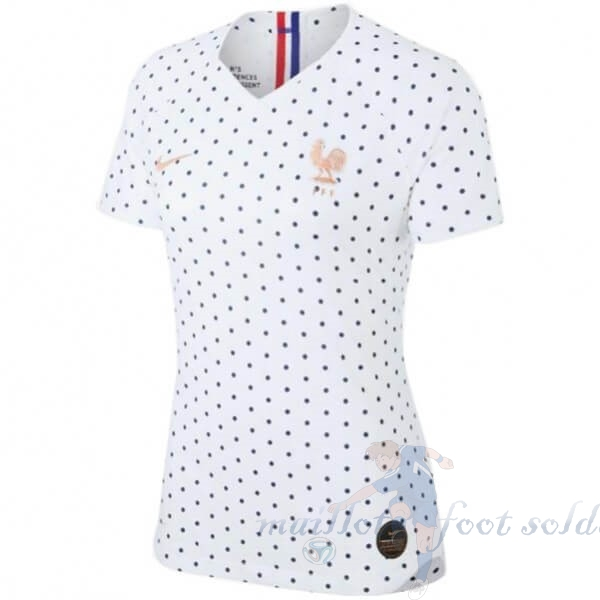 Pas Cher Maillot Foot Nike Exterieur Maillot Femme France 2019 Blanc