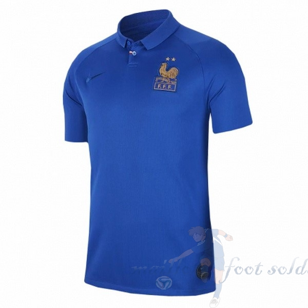 Pas Cher Maillot Foot Nike Maillot Femme France 100th Bleu