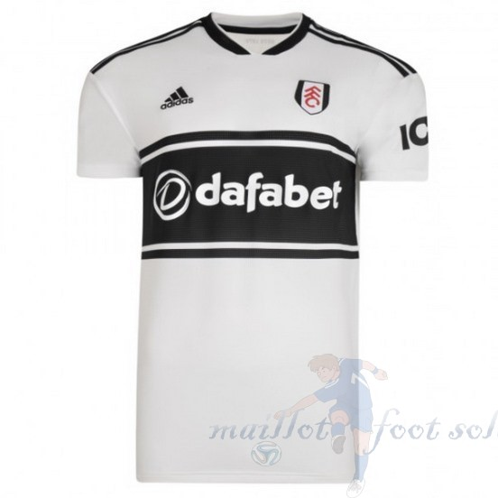 Pas Cher Maillot Foot Adidas Domicile Maillot Fulham 2018 2019 Blanc