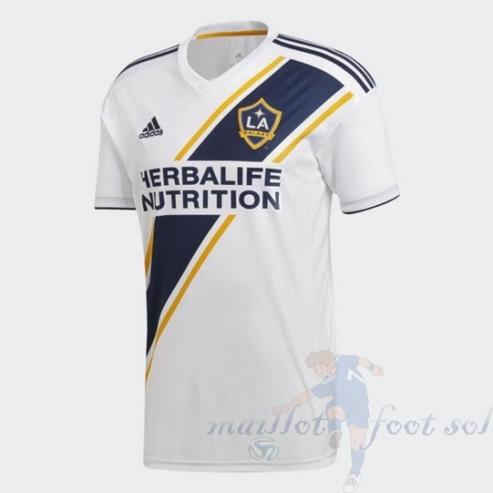 Pas Cher Maillot Foot Adidas Domicile Maillot Galaxy De Los Angeles 2018 2019 Blanc