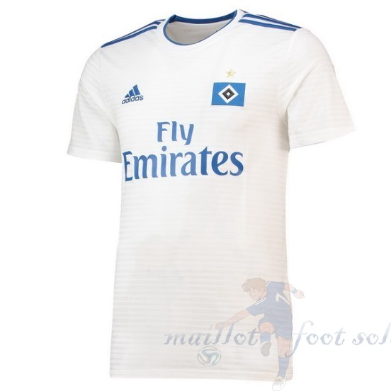 Pas Cher Maillot Foot Adidas Domicile Maillot Hambourg Svnd 2018 2019 Blanc