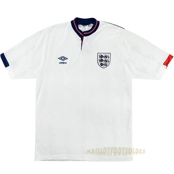 Pas Cher Maillot Foot umbro Domicile Maillot Angleterre Rétro 1989 Blanc