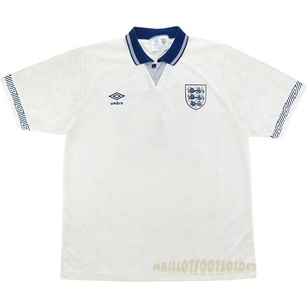 Pas Cher Maillot Foot umbro Domicile Maillot Angleterre Rétro 1990 Blanc