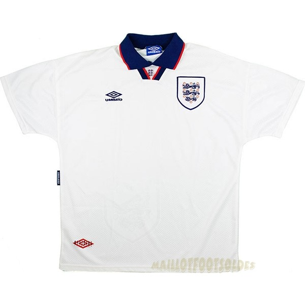 Pas Cher Maillot Foot umbro Domicile Maillot Angleterre Rétro 1994 Blanc