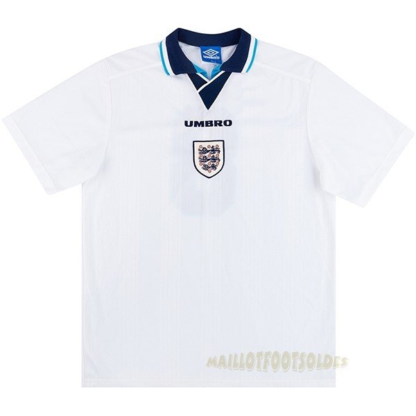 Pas Cher Maillot Foot umbro Domicile Maillot Angleterre Rétro 1996 Blanc