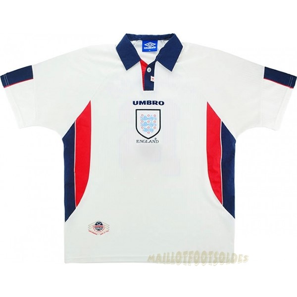 Pas Cher Maillot Foot umbro Domicile Maillot Angleterre Rétro 1998 Blanc
