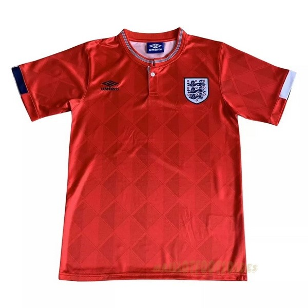 Pas Cher Maillot Foot umbro Exterieur Maillot Angleterre Rétro 1989 Rouge