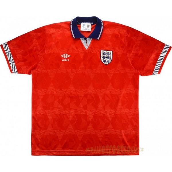 Pas Cher Maillot Foot umbro Exterieur Maillot Angleterre Rétro 1990 Rouge