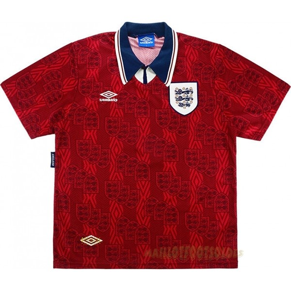 Pas Cher Maillot Foot umbro Exterieur Maillot Angleterre Rétro 1994 Rouge