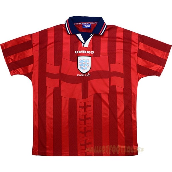 Pas Cher Maillot Foot umbro Exterieur Maillot Angleterre Rétro 1998 Rouge