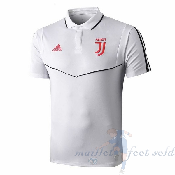 Pas Cher Maillot Foot adidas Polo Juventus 2019 2020 Rose Blanc