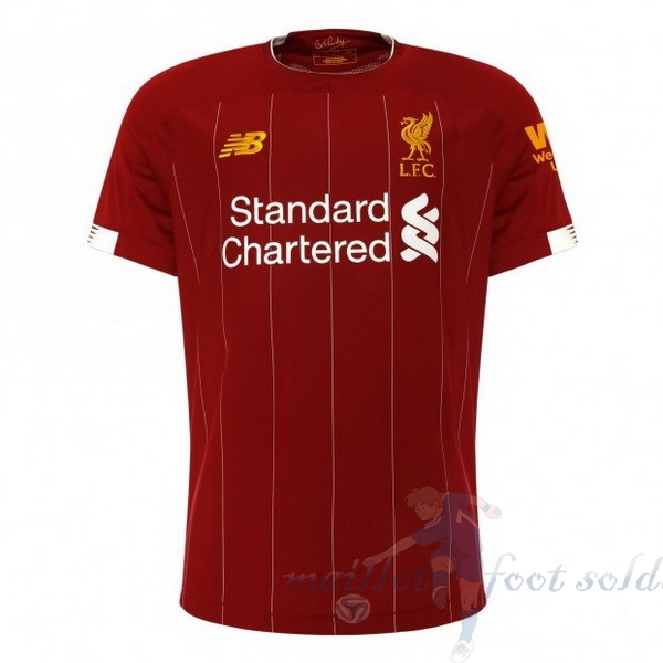 Pas Cher Maillot Foot New Balance Domicile Maillot Liverpool 2019 2020 Rouge