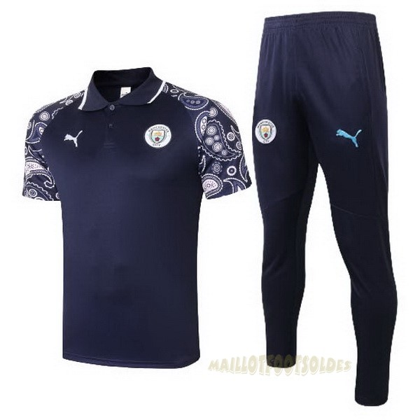 Pas Cher Maillot Foot PUMA Ensemble Complet Polo Manchester City 2020 2021 Purpura Noir