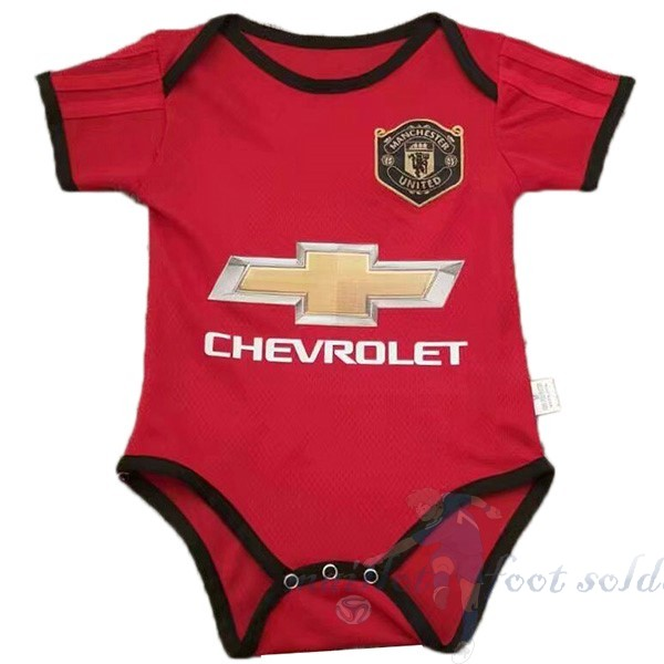 Pas Cher Maillot Foot Adidas Domicile Onesies Enfant Manchester United 2019 2020 Rouge