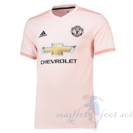 Pas Cher Maillot Foot Adidas Thailande Exterieur Maillot Manchester United 2018 2019 Rose