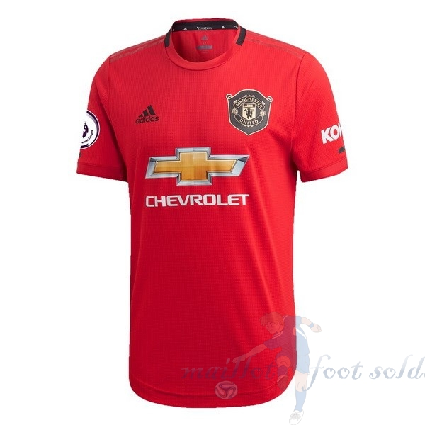 Pas Cher Maillot Foot adidas Domicile Maillot Manchester United 2019 2020 Rouge