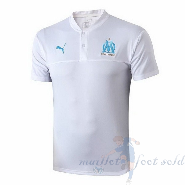 Pas Cher Maillot Foot Puma Polo Marseille 2019 2020 Blanc