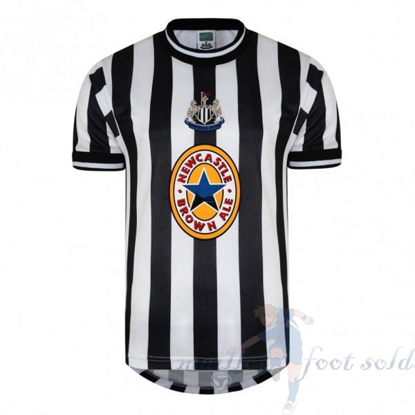 Pas Cher Maillot Foot adidas Domicile Maillot Newcastle United Retro 1997 1998 Noir Blanc